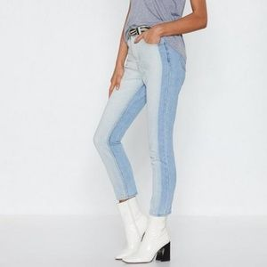 Nasty Gal Two-Tone High Waist Jeans -  NWT